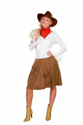 FM - Damen Kostüm Western Cowgirl Rock braun Karneval Fasching