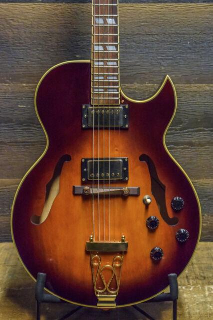 jay turser jt 136 hollow jazz body electric guitar cherry burst ebay. Black Bedroom Furniture Sets. Home Design Ideas