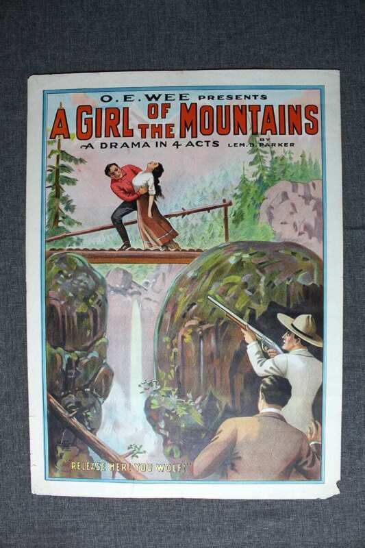 A Girl On The Mountains - Erie Litho Co. New York (1900