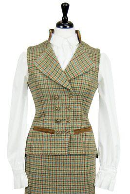 Great Scot Ladies Regency Equestrian Waistcoat Aberfeldy TWEED Wool Jacket Vest , used for sale  Shipping to Canada