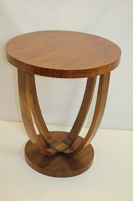 French Art Deco Modern Walnut Side End Table Circa 1920's