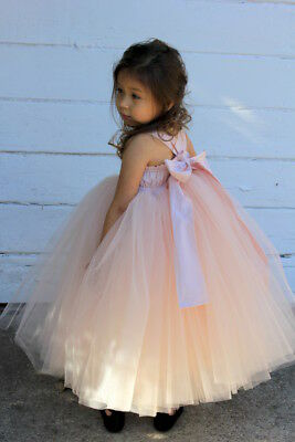 Wedding Sweetheart Neckline Cotton Tutu Flower Girl Dress Tutu Dresses Ball Gown - Cotton Flower Girl Dresses