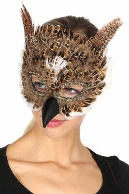 WIL - Kostüm Zubehör Maske Eule Karneval Fasching Party (Maskenball Kostüm)