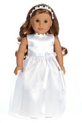 Modern First Communion Dresses (My First Communion - Doll Clothes for American Girl, Wedding Dress Headband)
