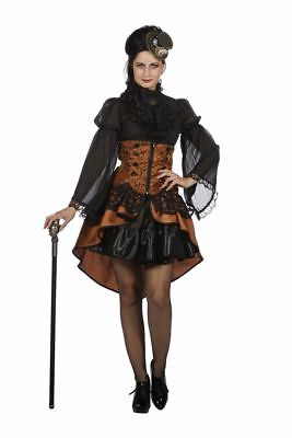 WIL - Damen Kostüm Korsett Vampirin Steampunk Karneval Halloween