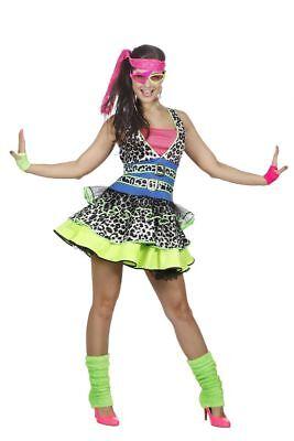WIL - Damen Kostüm 80er Jahre Mädchen Karneval Mottoparty