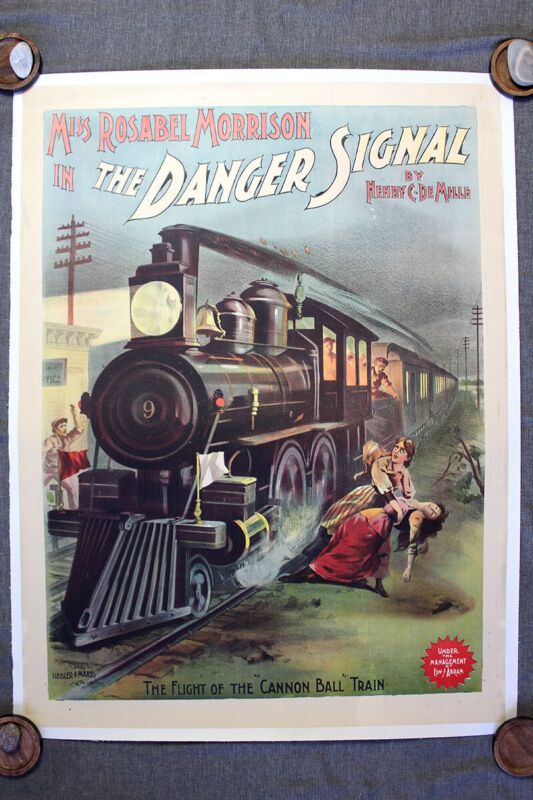 "The Danger Signal (1891) 20.25"" x 40.5"" US Theater Poster LB"