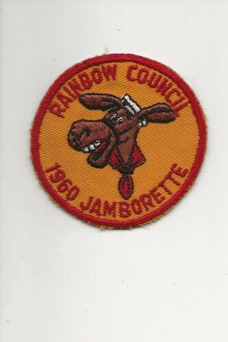 """RAINBOW COUNCIL / 1960 JAMBORETTE  """" PEDRO """" patch - Boy Scout BSA /7-18"""