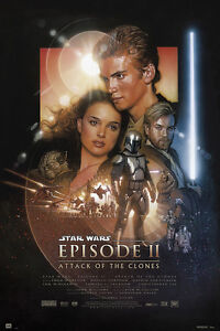 Star Wars Poster Episode 2 Attack of the Clones !!