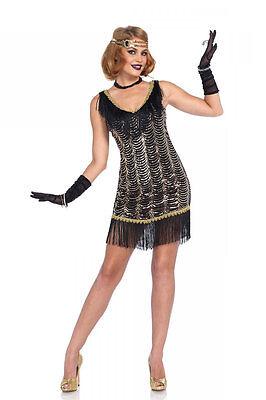 Charleston Girl Halloween Costume (Sexy Halloween Adult Leg Avenue Charleston Charmer Flapper Girl)