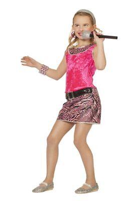 WIL - Kinder Kostüm Disco Kleid in pink Karneval Fasching