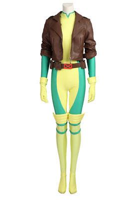 X-Men Superhero Rogue Anna Marie Jumpsuit Uniform Cosplay - X Men Uniform