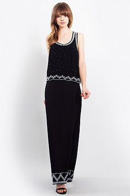 Women Fashion Vintage 1920s Downton Abbey Style Flapper Maxi Dress