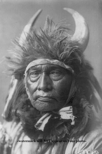 Bull Chief PHOTO Fierce Crow Warrior, Indian Wars Native American 1908