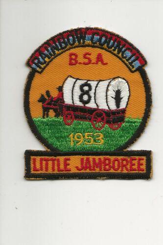 RAINBOW COUNCIL / 1953  LITTLE JAMBOREE  * 8 *  patch - Boy Scout BSA A132/7-4
