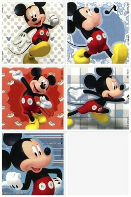 Mickey Mouse Stickers x 5 - Party Birthday Loot Favours Bags - Mickey Party Idea - Mickey Party Ideas