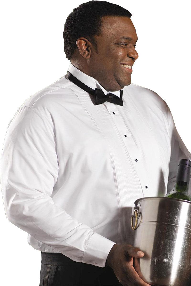 4a6963b1a Edwards Garment Men's Pintuck Bib Long Sleeve Wing Collar Tuxedo Shirt. 1390