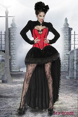 SEXY completo costume donna VAMPIRO 4 pezzi TG. 46 - 48 - 50 party DARK!