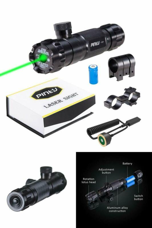 Pinty Hunting Rifle Green Laser Sight Dot Scope Adjustable with Mounts QUALITY