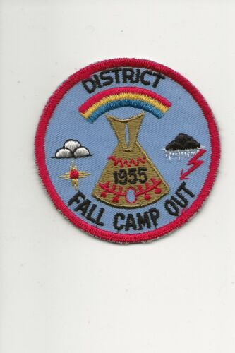 RAINBOW COUNCIL / 1955  District Fall Camp Out patch - Boy Scout BSA A132/7-18