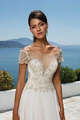Justin Alexander A Line Wedding Dress 8957 Size 16 ex display excelllent conditi