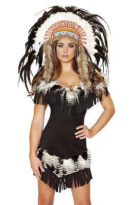 Indianer Kostuem Native Indian mit Kopfschmuck Karneval Fasching Made in - Native Kostüm
