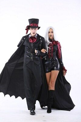 Men & Women's Halloween Adult Vampire Couples Costumes Cosplay 2 Outfit Set ZG9 - Couples Cosplay Costumes