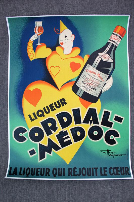 "Cordial-Medoc - Art by Henri LeMonnier (1936) 23"" x 30.5"" French Advertising ..."