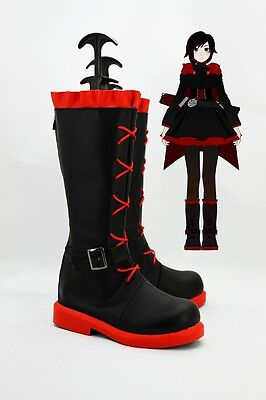 RWBY Ruby Rose Crescent Stiefel Schuhe shoes boots Kostüme Cosplay Costume Neu
