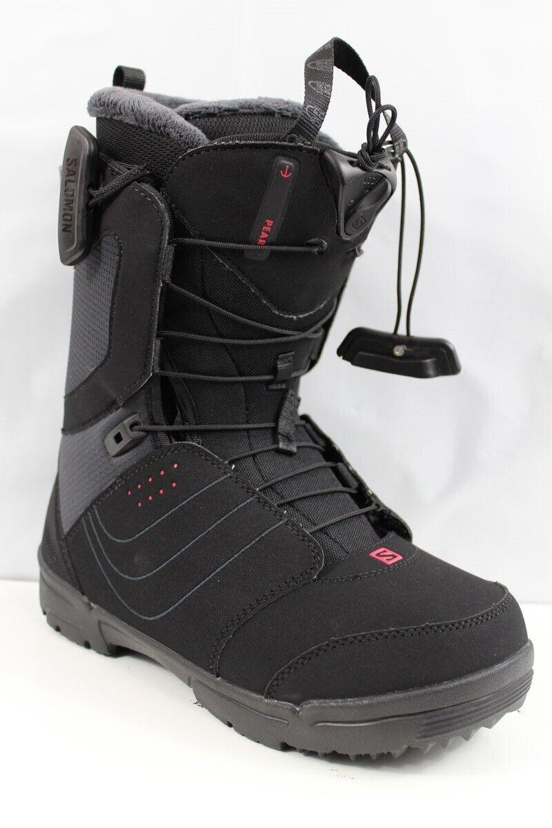Salomon Pearl Snowboard Boots Women's 7.5 Black New 2020