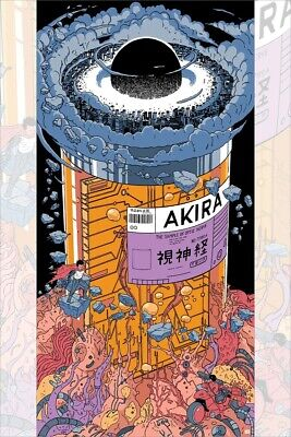 AKIRA Optic Nerve Jar Screen Printed Poster Art Flourescent Ink 12x24 Mondo