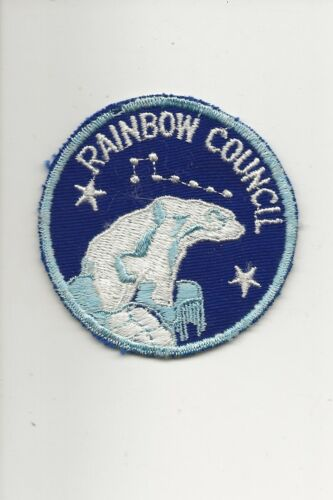 RAINBOW  COUNCIL / 19??  POLAR  BEAR  patch - Boy Scout BSA A132/7-4