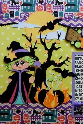 Witch's Brew 2 Premade Scrapbook Pages Layout Paper Piecing 12x12