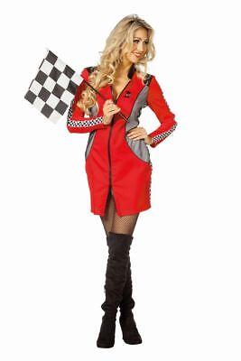 FFF - Damen Kostüm Rennfahrer Boxenluder Karneval Fasching
