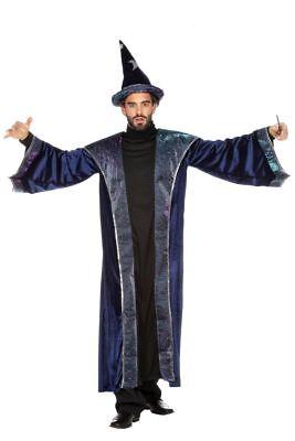 WIL - Herren Kostüm Zauberer Magier Robe Hut Karneval - Magier Roben Kostüm