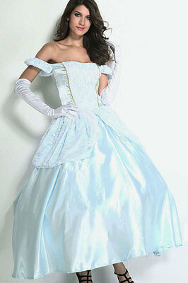Cinderella Ball Gown Lace Satin Disney Princess Halloween Costume One Size 8852  (Halloween Costume Ball Gowns)