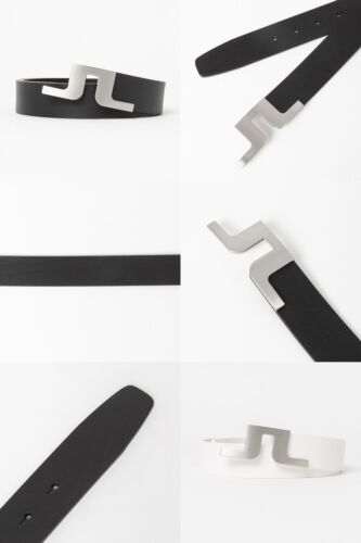 J.LINDEBERG Golf Cowhide Belt Genuine Leather Italy made Bridge Logo Buckle 2021
