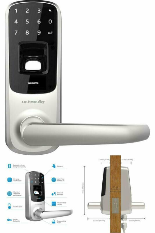 Ultraloq UL3 BT Bluetooth Enabled Fingerprint and Touchscree