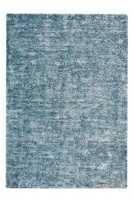 Handgewebter Teppich Handgefertigt Vintage Design Modern Silber Blau 120x170cm