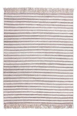 Fransen Wollteppich Teppich Wolle Modern Scandi Struktur Garn Beige Creme - Baumwolle Teppich Garn