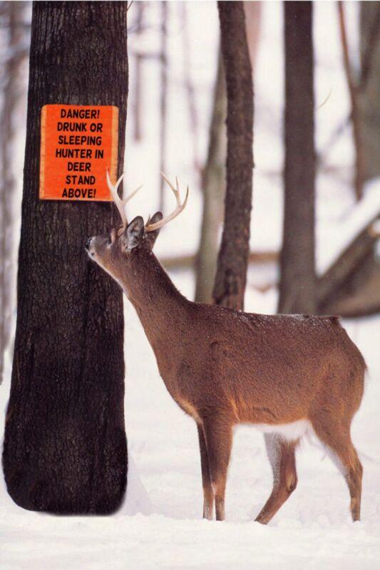 *FUNNY WARNING SIGN! HUNTERS DEER READ* METAL 8X12 MAN CAVE BAR HUNTING CABIN