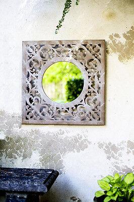 Metal Garden Mirror Conservatory Mirror Shabby Chic Mirror Outdoor Mirror