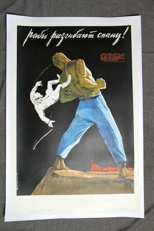 """The Slaves Get Rid Of Their Masters - Art by Victor Ivanov (1939) 26.7"""" x 39...."""