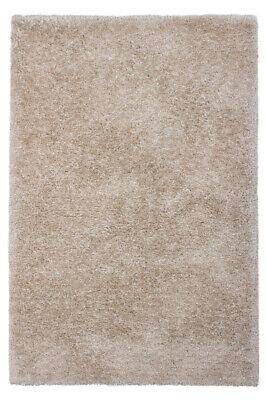 Hochflor Teppich Shaggy Teppiche Flauschig Creme Elfenbein Beige 200x290cm