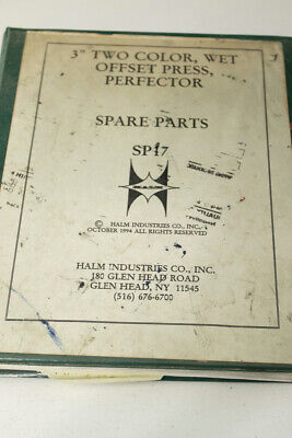 Halm Jet Printing Press Spare Parts Diagrams Sp17 Manual