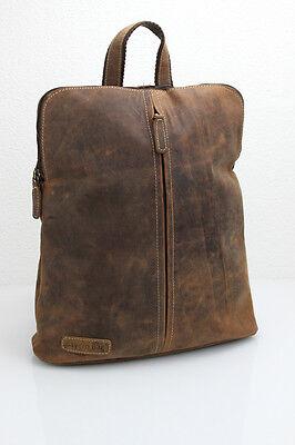 Bay Leder Tasche (Leder Rucksack und Umhängetasche Hunter Collection von Bayern Bag® 2 in 1 )