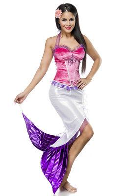 Silber Fisch Kostüm (ATX 14872 Mermaid Kostüm Nixe Meerjungfrau Fisch Karneval Fasching Damen )