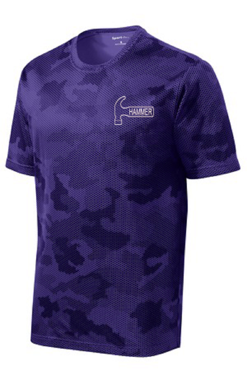 Hammer Men's Jacked Performance Crew Bowling Shirt Dri-fit Purple