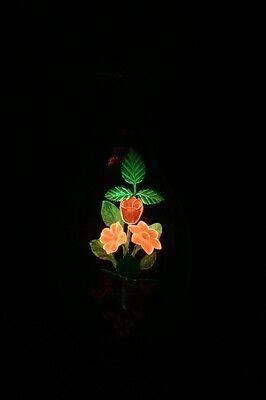 Old-time DURO-LITE Pink Orange NEON Flower BOUQUET Light BULB Original Pkg #8866