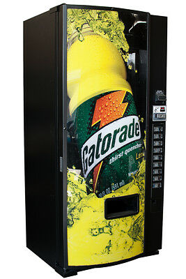Dixie Narco 600e Drink Soda Vending Machine W Gatorade Graphic Free Shipping